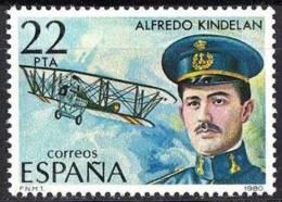 España. Spain. 1980. Alfredo  Kindelan Duany. Pionero De La Aviacion Española - Celebridades