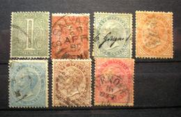 """069 - ITALIA - REGNO - 1863 - """" Lotto Cifra E Effige V.E. III° """" Viaggiati - Usati"""