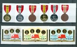 TONGA #279-CO51..medals CPLT SET...MNH...cat $10.50 WYSIWYG A04s - Tonga (1970-...)