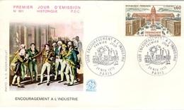 FRANCE 1775 FDC Enveloppe Premier Jour Napoléon Bonaparte Encouragement à L'industrie - FDC