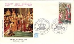 FRANCE 1776 FDC Enveloppe Premier Jour Napoléon Bonaparte Sacre Empereur 2 Décembre 1804 Pape PIE VII - FDC