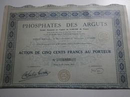 31 Haute Garonne ? Société Des Phosphates Des Arguts, Janvier 1929 - Mines
