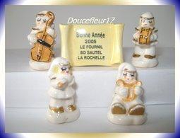 Fournil, Musiciens ... Lot De 5 Fèves  Perso ... Ref AFF : 2005.. (pan 0027) - Personnages