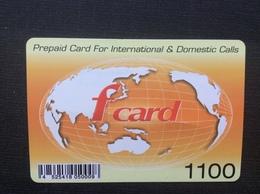 CARTE PRÉPAYÉE CHINE  *1100  F CARD - Chine