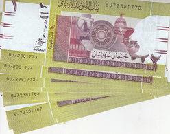 SUDAN 2 POUNDS 2017 P-71 New LOT X10 UNC REPLACEMENT NOTES */* - Sudan