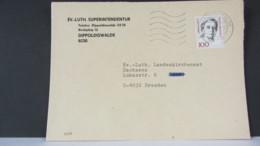 BRD: Brief MWSt 1992 Im VGO Wurde Bei Wenigen Ämtern Entgegen Der Vorschrift Stempel Nach BRD-Muster Gefertigt-PLZ Unten - Briefe U. Dokumente