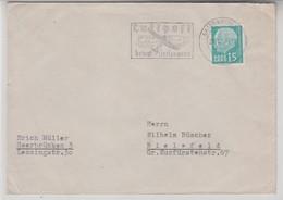SAARLAND 1957 SAARBRUCKEN LUFTPOST COVER - 1957-59 Bundesland