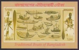 BANGLADESH 2013 MNH - Traditional Boats Of Bangladesh, Boat, Miniature Sheet Imperf - Bangladesh