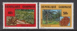 1974 Gabon Gabonaise Food Manioc Date Palms Trees Complete Set Of 2 MNH - Gabon (1960-...)