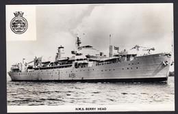 RPPC Modern Real Photo Postcard HMS Berry Head Royal Navy Ship Boat RP - Warships