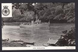 RPPC Modern Real Photo Postcard HMS Woolaston Royal Navy Ship Boat RP PC - Warships