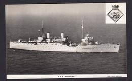 RPPC Modern Real Photo Postcard HMS Maidstone Royal Navy Sub Marine Depot Ship - Warships