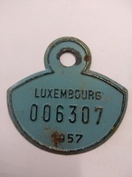 Luxembourg , Plaque Immatriculation Vélo 1957 - Plaques D'immatriculation