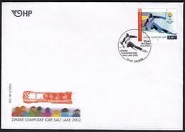 Croatia Zagreb 2002 / Olympic Games Salt Lake City / Alpine Skiing / Bobsleigh / Croatia Bob Four / FDC - Winter 2002: Salt Lake City
