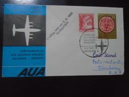SALZBURG-MUNCHEN - AUSTRIAN AIRLINES - AUA - 2.6.1965 - First Flight Covers
