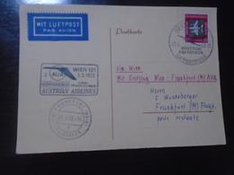 WIEN/VIENNA - FRANKFURT - AUSTRIAN AIRLINES - AUA - 5.5.1958 - First Flight Covers