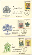Czechoslovakia FDC 21-6-1968 PRAHA 68 Complete Set Of 5 On 3 Covers With Cachet - FDC