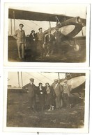 Personnes Devant Un AVION - Lot De 2 Vues - 1919-1938: Entre Guerres