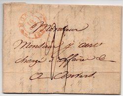 LAC - BELGIQUE - 1833 MONS Vers ANVERS -   AA6 - 1830-1849 (Belgique Indépendante)