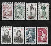 #287A# REUNION 4 MNH** RED CROSS SETS. CROIX ROUGE. - Reunion Island (1852-1975)