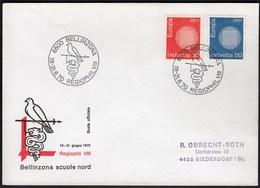 Switzerland Bellinzona 1970 / Philatelic Exhibition REGIOPHIL VIII / Bird, Snake / Europa CEPT - Philatelic Exhibitions
