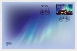 H01 Aland Islands 2019 Aurora Borealis - Northern Lights FDC - Aland