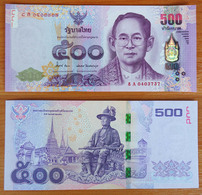 Thailand 500 Baht 2014 UNC - Thailand