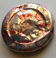 NZ QEII CORONATION MILK BOTTLE CAP IN SILVER ALUMINUM FOIL - Opercules De Lait