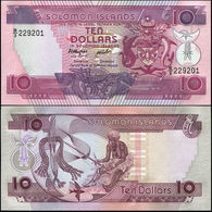 SOLOMON ISLANDS - 10 Dollars Nd.(1986) UNC P.15 - Salomons