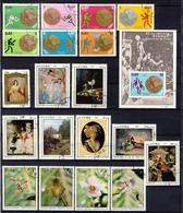 1973 - Annata Di Francobolli Annullati - 4 Immagini - Cuba