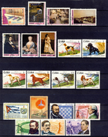 1976 - Annata Di Francobolli Annullati - 4 Immagini - Cuba