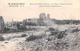 Marne Minaucourt)-Mesnil-lès-Hurlus Le Village Et L'église En Ruines Après Les Bombardements La Guerre 1914-17 Militaria - Autres Communes