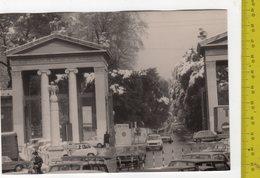 ROMA Fotocartolina ENTRATA VILLA BORGHESE Nevicata FG V SEE 2 SCANS Animata, Cantiere, Stele Con Aquila - Parks & Gardens