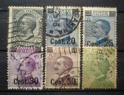 """078 - ITALIA - REGNO - 1924/25 - """" Lotto Del Tipo 1901 Soprastampa """" -  Viaggiati - Usati"""