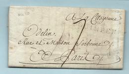 Finistère - Quimper Pour Paris. LAC De L'An X. MP 28/QUIMPER - Marcofilia (sobres)