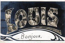 Prenoms,   Louis Avec Visages De Femmes - Prénoms
