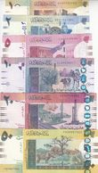 SUDAN 1 2 5 10 20 50 POUNDS 2006 P-64 65 66 67 68 69 VF Crisp SET - Sudan