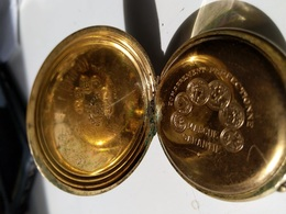 VINTAGE :  GOUSSET CHRONOMÈTRE DORE SOLIDOR - Orologi Da Polso