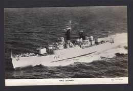 RPPC Modern Real Photo Postcard HMS Leopard Royal Navy Ship Boat RP PC - Warships