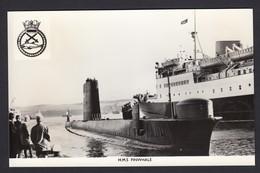 RPPC Modern Real Photo Postcard HMS Finwhale Royal Navy Ship Boat RP Submarine - Warships