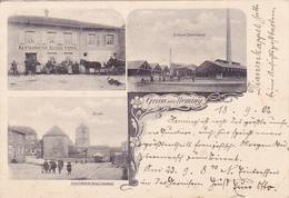 ( 57 ) - Heming Grüss Aus ...Restauration Eugene Pierrel  1902   Carte Allemande - Chateau Salins