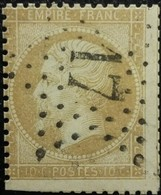 FRANCE Y&T N°21a Napoléon 10c Bistre-jaune. Oblitéré étoile De Paris N°17 - 1862 Napoleon III