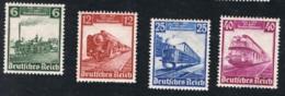 1935 10. Juli 100 J. D. Eisenbahn Mi 580 - 83 Sn 459 - 62 Yt 539 - 42 Sg DR 577 - 80 AFA DR 575 - 78 M. G. Und Falz X - Germania