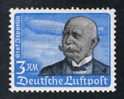 1934 21. Jan Graf Von Zeppelin Mi 539y  Sn C56  Yt PA53 Sg DR 536 Mit Waagerechter Gummierung Und Falz X S. Scan - Alemania