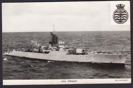 RPPC Modern Real Photo Postcard HMS Torquay Whitby Class Frigate Ship Royal Navy - Warships