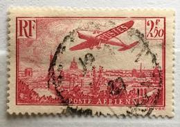 Timbre France Poste Aérienne YT PA 11 (°) 1936 Avion Survolant Paris 2f50 Rose (côte 9,20 Euros) – 316 - 1927-1959 Oblitérés