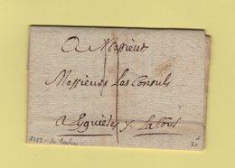 Franchise De L'Intendant La Tour - 1789 - Moulins Allier - 1701-1800: Précurseurs XVIII
