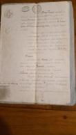 ACTE DE AOUT 1827 VENTE DE TERRE A BEIRE LE CHATEL - Documents Historiques