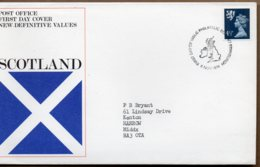 1974 6 November 4 1//2p Value FDC EDINBURGH - Regional Issues