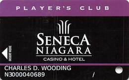 Seneca Niagara Casino - Slot Card - PG Manufacturer Mark With Lines Under Logos - Casino Cards
